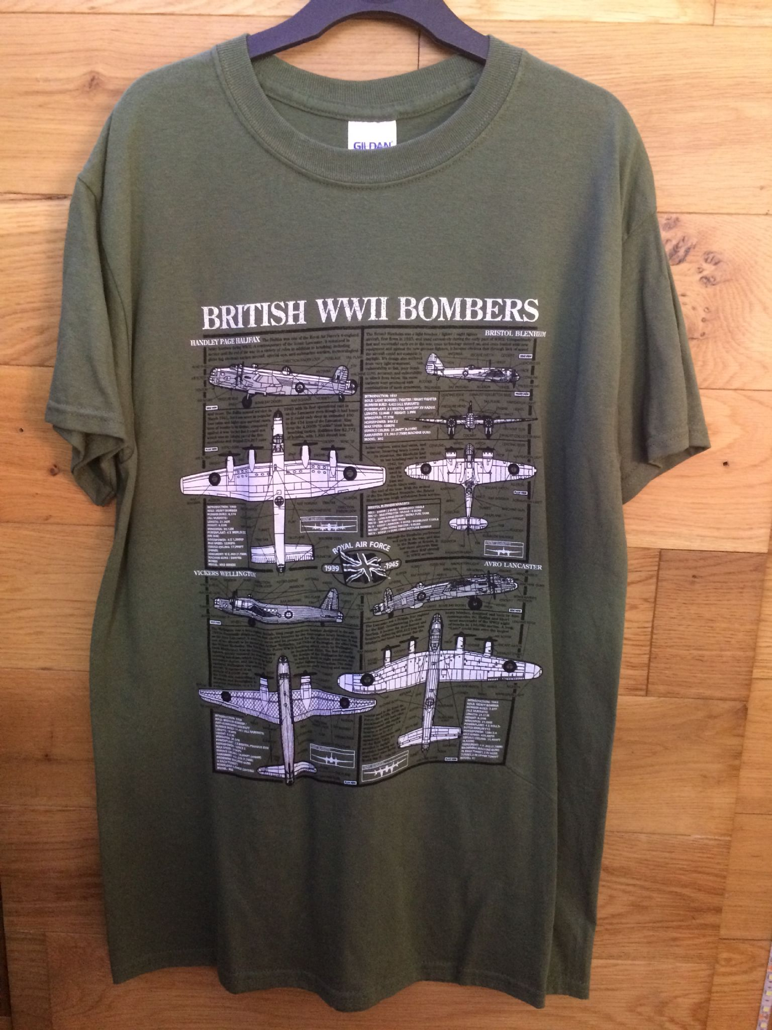 British Ww2 Bombers Military Design T Shirt