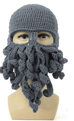 Octopus Knitted Balaclava / Beanie Hat