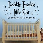 Twinkle, Twinkle Little Star Quote Wall Art Sticker